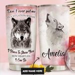Wolf Personalized DNR1611022 Stainless Steel Tumbler