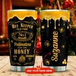 Bee Keeper Label Personalized KD2 MAL1711010 Stainless Steel Tumbler