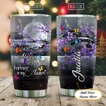 Purple Flower Butterfly Personalized KD2 HAL1711015 Stainless Steel Tumbler
