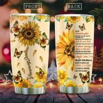 To My Sunflower Granddaughter KD2 HAL1711018 Stainless Steel Tumbler