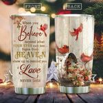 Cardinal Bird Love In Heaven KD2 HAL1711012 Stainless Steel Tumbler