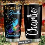 Butterfly Youll Be Remembered Personalized KD2 HNM1711007 Stainless Steel Tumbler