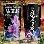 Butterfly Angels Personalized KD2 HNM1711001 Stainless Steel Tumbler