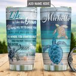Personalized Turtle Mom To Daughter HHZ1811021 Stainless Steel Tumbler