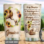 Personalized Bear Dad To Daughter TTZ1811003 Stainless Steel Tumbler