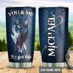 Personalized Dragon Couple TTZ1811010 Stainless Steel Tumbler