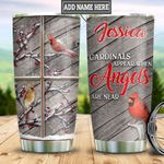 Personalized Cardinal Angels HLZ1811005 Stainless Steel Tumbler