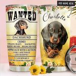 Dachshund Personalized NNR1811008 Stainless Steel Tumbler