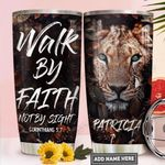 Lion Faith Personalized PYR1811018 Stainless Steel Tumbler