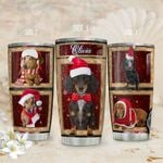 Christmas Dachshund Personalized TAS1811002 Stainless Steel Tumbler