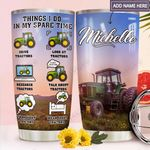 Green Tractor Personalized MDA1811003 Stainless Steel Tumbler