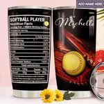 Softball Player Facts Personalized MDA1811006 Stainless Steel Tumbler