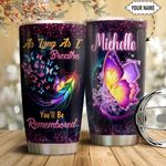 Butterfly Personalized HTQ1811001 Stainless Steel Tumbler