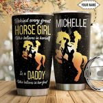 Horse Girl Personalized HTQ1811002 Stainless Steel Tumbler