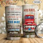 Red Truck To My Dad Personalized HTC1811008 Stainless Steel Tumbler