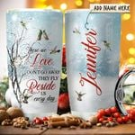 Hummingbird Winter Tree Personalized KD2 HRX1811010 Stainless Steel Tumbler