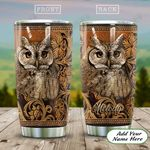Wooden Style Owl Personalized KD2 HAL1811019 Stainless Steel Tumbler