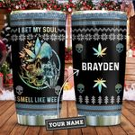 Skull Bet My Soul Personalized KD2 ZZL1811015 Stainless Steel Tumbler