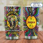 Hippie Elephant Doodle Personalized KD2 HAL1811010 Stainless Steel Tumbler