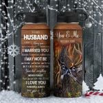 Deer Couple To Husband KD2 HAL1811001 Stainless Steel Bottle With Straw Lid
