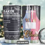 Baking Nutrition Facts Personalized TAS1911001 Stainless Steel Tumbler