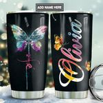 Butterfly Fe Personalized TAS1911003 Stainless Steel Tumbler
