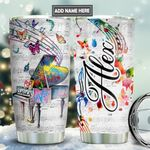 Piano Butterfly Retro Personalized TAS1911005 Stainless Steel Tumbler