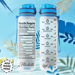 Penguins Couple Personalized HHS1911009 Water Tracker Bottle