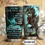 Dragon To My Son Personalized HTQ1911007 Stainless Steel Tumbler
