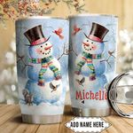Snowman Personalized HTQ1911017 Stainless Steel Tumbler