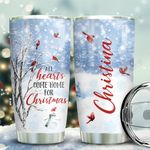 Cardinal Winter Tree Personalized KD2 BGX1911001 Stainless Steel Tumbler