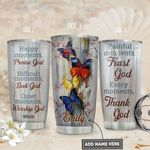 Butterfly Faith Personalized PYR1911006 Stainless Steel Tumbler