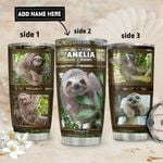 Sloth Personalized DNR1911017 Stainless Steel Tumbler