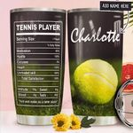 Tennis Fact Personalized NNR1911018 Stainless Steel Tumbler
