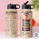 Book Knowledge Personalized DNR1911002 Stainless Steel Bottle With Straw Lid