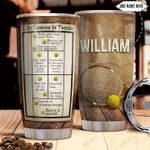 Tennis Personalized NNR1911021 Stainless Steel Tumbler