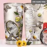 Tennis Personalized PYR1911022 Stainless Steel Tumbler