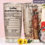 Golf Facts Personalized MDA1911009 Stainless Steel Tumbler