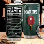 Table Tennis Facts Personalized THA1911017 Stainless Steel Tumbler