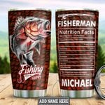 Personalized Fishing Nutrition Facts HHZ1911014 Stainless Steel Tumbler