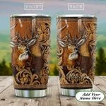 Wooden Style Deer Personalized KD2 HAL1911015 Stainless Steel Tumbler
