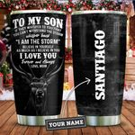 To My Son Deer Hunting Personalized KD2 ZZL1911014 Stainless Steel Tumbler