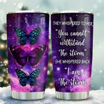 Purple Butterfly Storm KD2 HAL1911010 Stainless Steel Tumbler