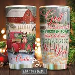 Germand Shepherd Led Me Straight To You Personalized KD2 KHM2011007 Stainless Steel Tumbler