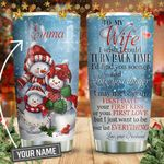 Christmas SnowMan To My Wife KD2 HNM2011002 Stainless Steel Tumbler