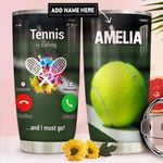 Tennis Calling Personalized DNR2011025 Stainless Steel Tumbler
