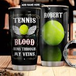 Tennis Personalized DNR2011026 Stainless Steel Tumbler