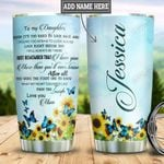 Personalized Blue Butterfly Mom To Daughter HLZ2011009 Stainless Steel Tumbler