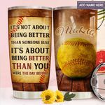Softball Personalized MDA2011003 Stainless Steel Tumbler