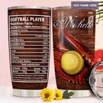 Softball Player Facts Personalized MDA2011004 Stainless Steel Tumbler